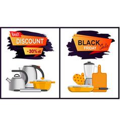 Black friday discount advert vector