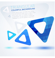 blue triangles abstract background vector image