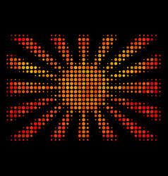 Bright dot japanese rising sun icon vector
