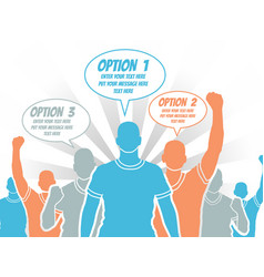 Businessman option template step ranking orange 3 vector
