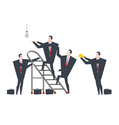 businessmen change light bulb how many lawyers do vector image