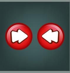 Button game a cartoon congratulations for your vector