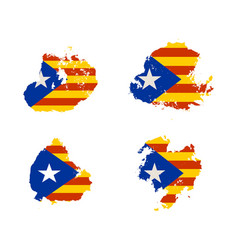 Catalonia grunge textured flag vector