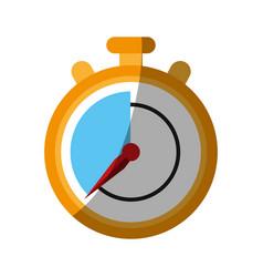 Chronometer flat shadow vector