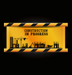 construction in progress design vector image
