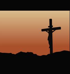 Crucifixion jesus christ on cross vector