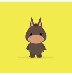 Cute Cartoon donkey vector image