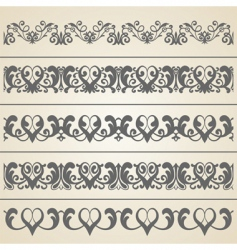 decorative borders set vector image