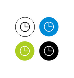 Design icon hour vector