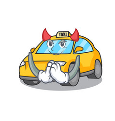 Devil taxi character mascot style vector
