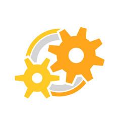 engineer cog wheels setup symbol logo design vector image
