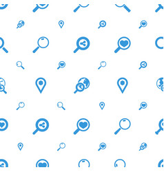 find icons pattern seamless white background vector image
