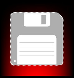 floppy disk style vector image