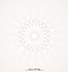 Floral Circle Background vector