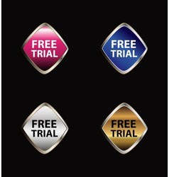 Free trial label set vector