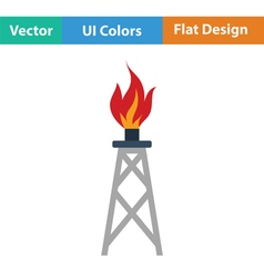 Gas tower icon vector image