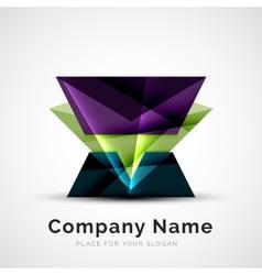Geometric shape company logo vector image