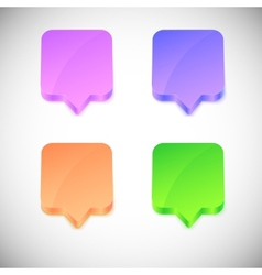 glossy 3d speech bubbles vector image