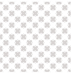 Gray and white geometric floral pattern abstract vector