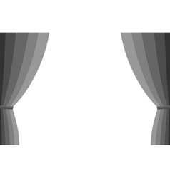 Grey curtain vector