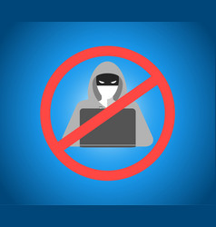 hacker warning theme image vector image