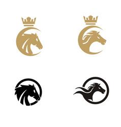 horse logo design inspiration vector image