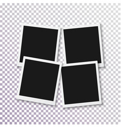 Instant photo frame realistic photo frame fast vector