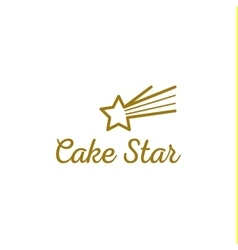 isolated logo Colorful cupcake sign Cake vector image vector image