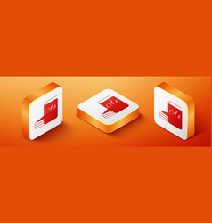 Isometric abc book icon isolated on orange vector