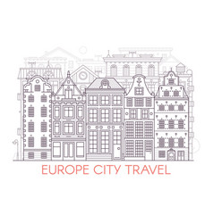 line europe city landscape vector image