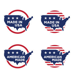 made in america label set 06 vector image