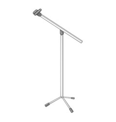 microphone stand icon monochrome vector image