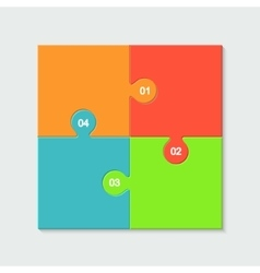 Modern colorful puzzle infographic vector