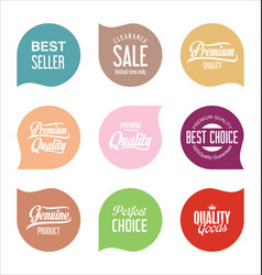 modern sale badges collection 8 vector image