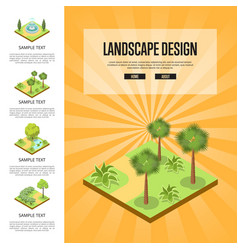 Natural landscape design isometric infographics vector