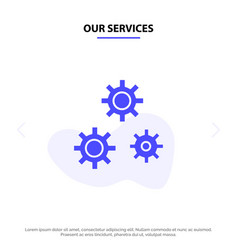 Our services configuration gears preferences vector
