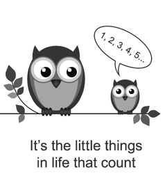 OWL LITTLE THINGS vector