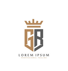 premium gr monogram two letters gr elegant vector image