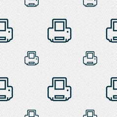Printing icon sign Seamless pattern with geometric vector image