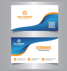 Professional business card vector
