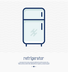 refrigerator thin line icon vector image