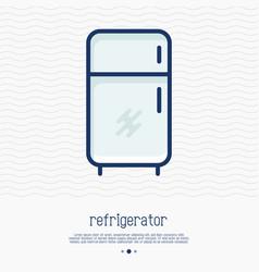 refrigerator thin line icon vector image