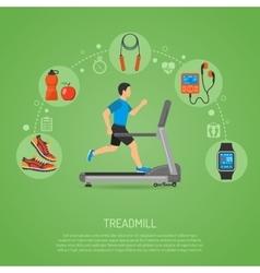 Runner on Treadmill Concept vector
