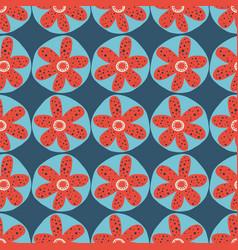 scandinavian flowers seamless background vector image