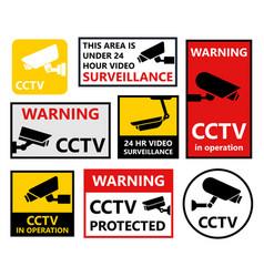 security camera sticker video surveillance vector image