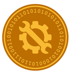 Service tools digital coin vector