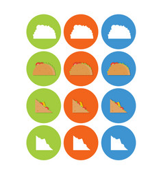set flat food icons for web and mobile vector image