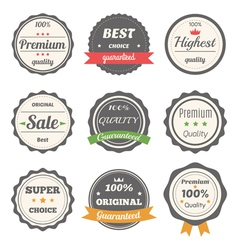 set of retro labels Best choice guaranteed vector image