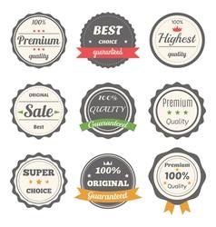 Set of retro labels Best choice guaranteed vector