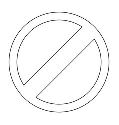 sign entry prohibited the black color icon vector image